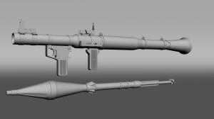 RPG launcher and rocket grenade