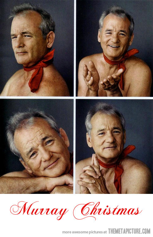 Bill Murray Christmas posing!
